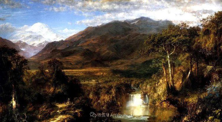 以浪漫光色效果,表达让人崇敬的神奇自然!美国画家Frederic Edwin Church插图13