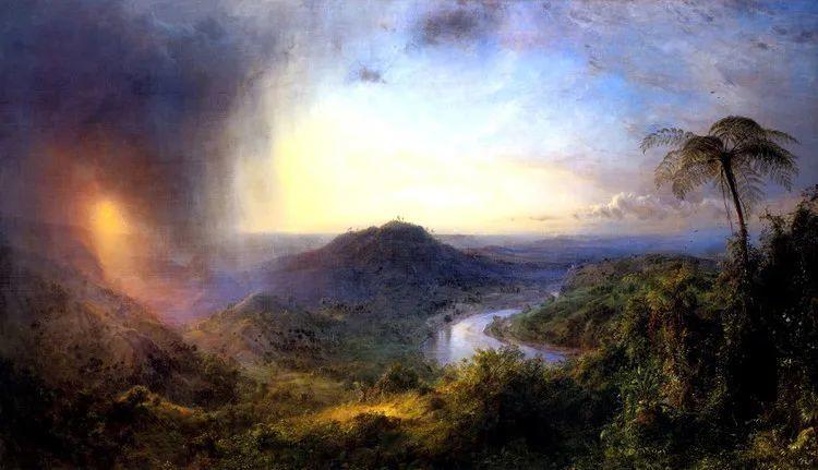 以浪漫光色效果,表达让人崇敬的神奇自然!美国画家Frederic Edwin Church插图17