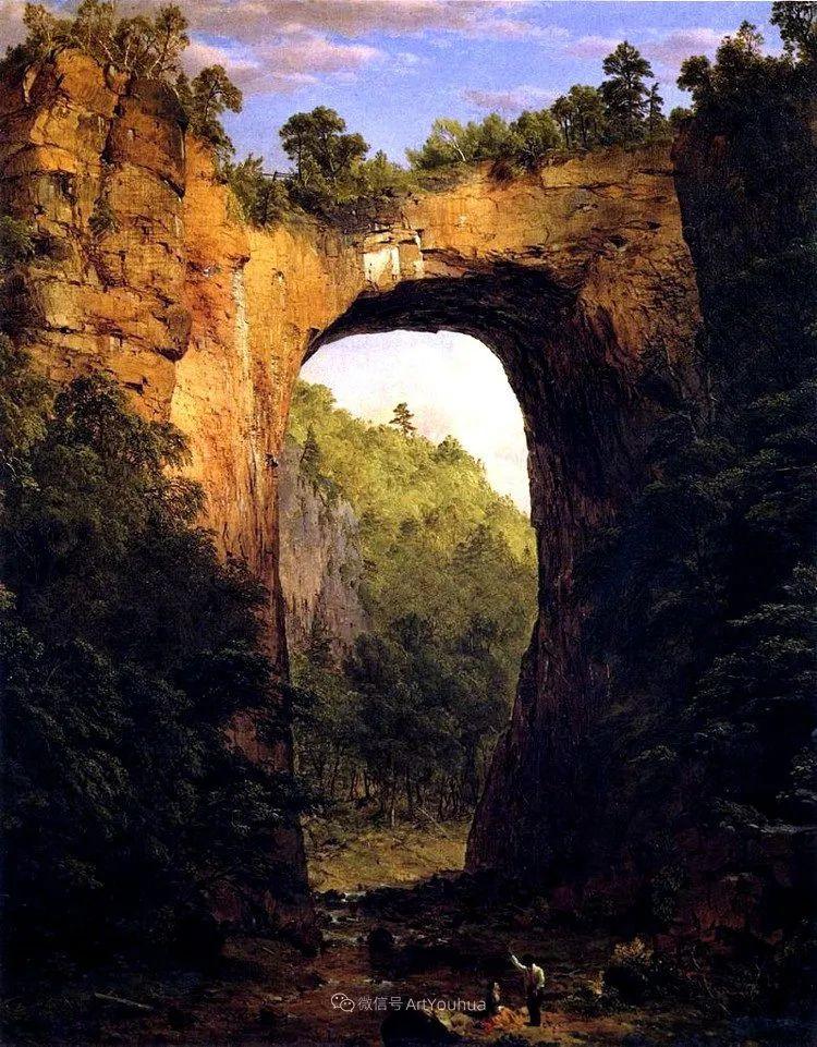 以浪漫光色效果,表达让人崇敬的神奇自然!美国画家Frederic Edwin Church插图19