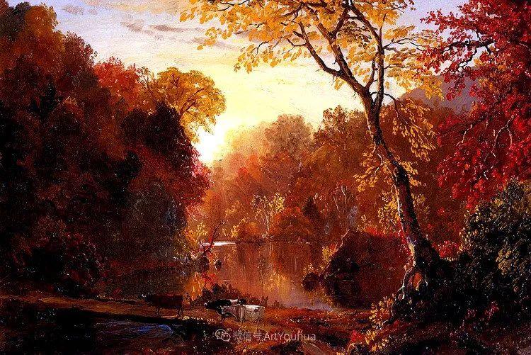 以浪漫光色效果,表达让人崇敬的神奇自然!美国画家Frederic Edwin Church插图21