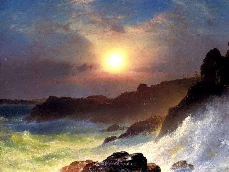 以浪漫光色效果,表达让人崇敬的神奇自然!美国画家Frederic Edwin Church插图25