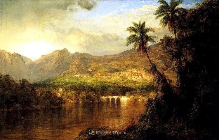 以浪漫光色效果,表达让人崇敬的神奇自然!美国画家Frederic Edwin Church插图27