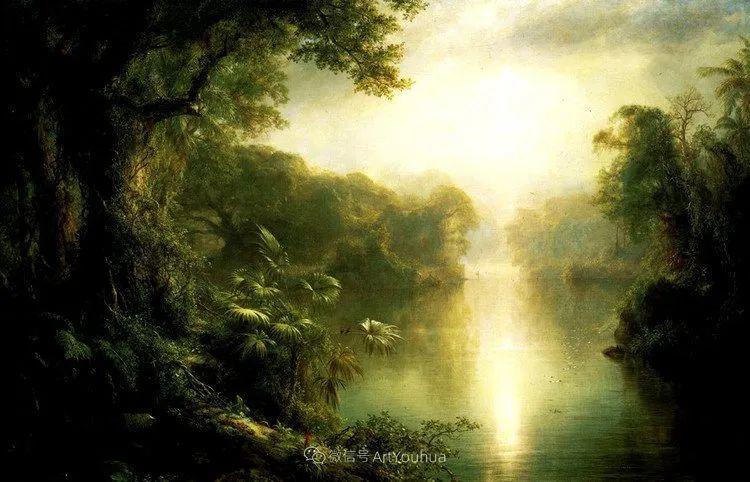 以浪漫光色效果,表达让人崇敬的神奇自然!美国画家Frederic Edwin Church插图35