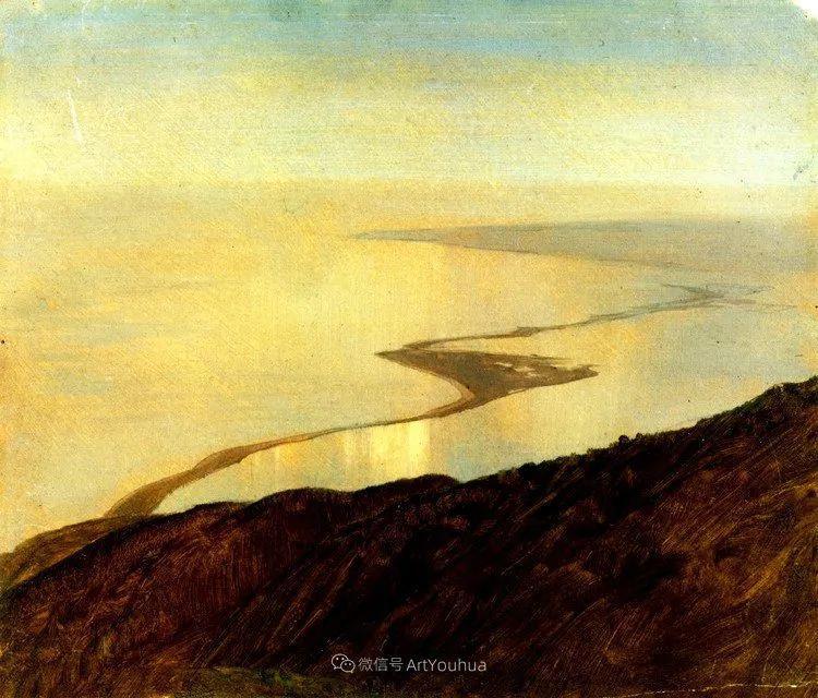 以浪漫光色效果,表达让人崇敬的神奇自然!美国画家Frederic Edwin Church插图37