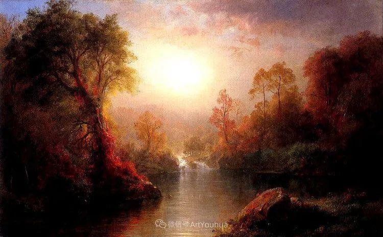 以浪漫光色效果,表达让人崇敬的神奇自然!美国画家Frederic Edwin Church插图41