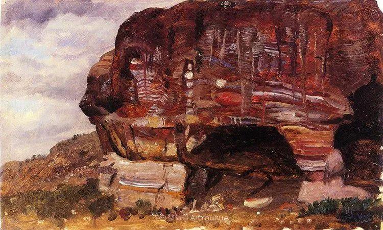 以浪漫光色效果,表达让人崇敬的神奇自然!美国画家Frederic Edwin Church插图45