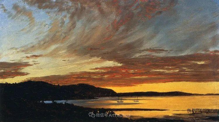 以浪漫光色效果,表达让人崇敬的神奇自然!美国画家Frederic Edwin Church插图47