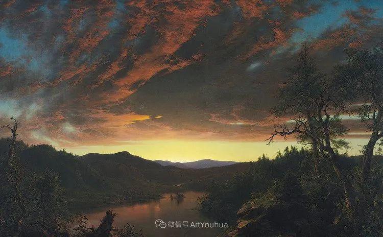 以浪漫光色效果,表达让人崇敬的神奇自然!美国画家Frederic Edwin Church插图49