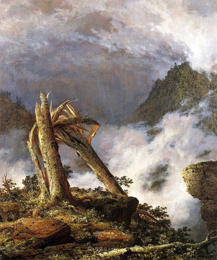 以浪漫光色效果,表达让人崇敬的神奇自然!美国画家Frederic Edwin Church插图51