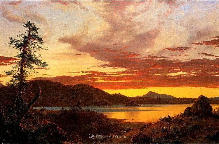 以浪漫光色效果,表达让人崇敬的神奇自然!美国画家Frederic Edwin Church插图57