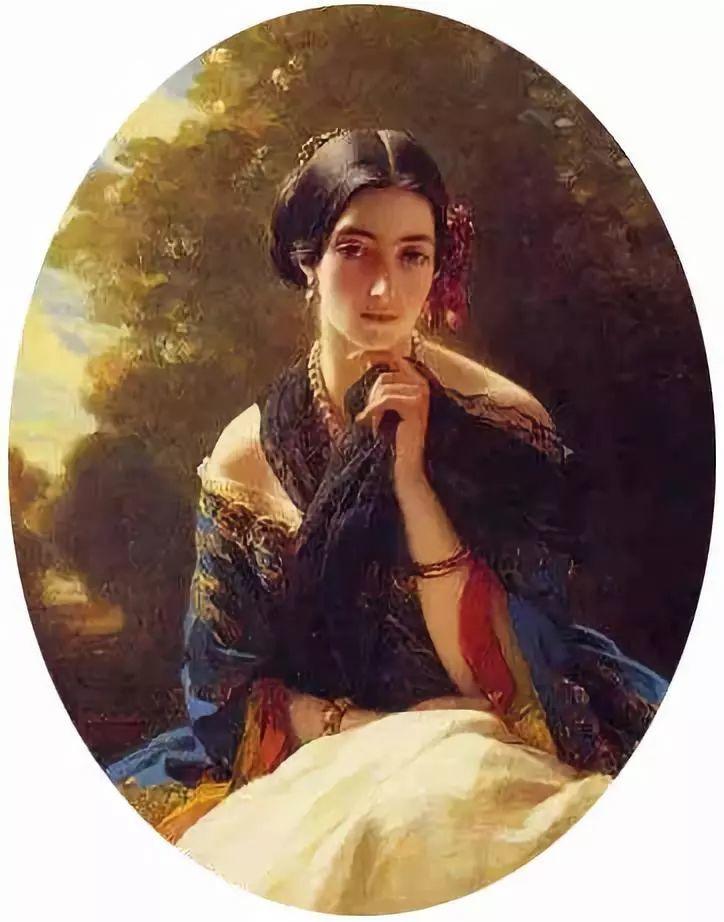 中外油画大师们笔下的女神,气质迷人!插图47
