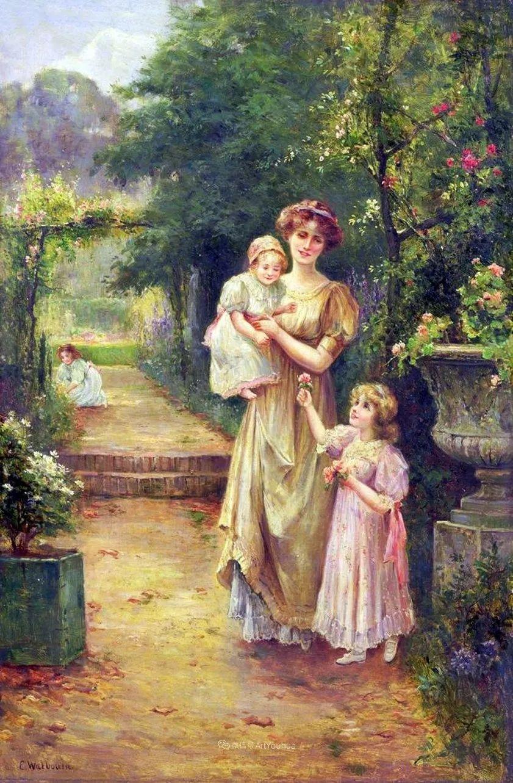 美丽村姑与诗意田园,英国画家Ernest Charles Walbourn作品(下)插图3
