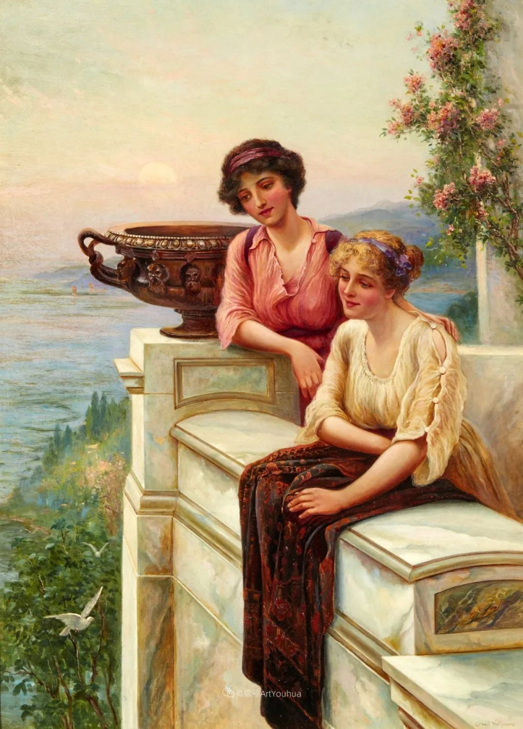 美丽村姑与诗意田园,英国画家Ernest Charles Walbourn作品(下)插图7