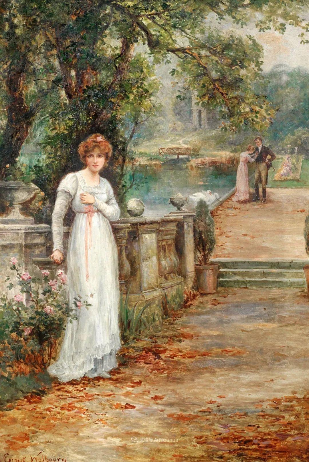 美丽村姑与诗意田园,英国画家Ernest Charles Walbourn作品(下)插图19
