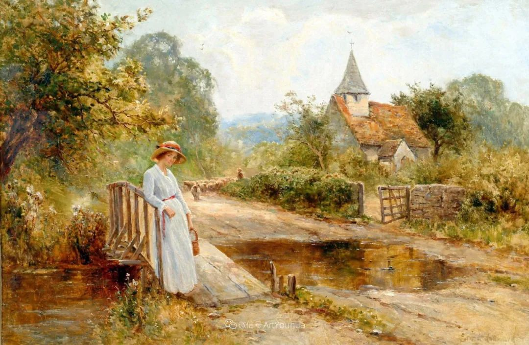 美丽村姑与诗意田园,英国画家Ernest Charles Walbourn作品(下)插图25