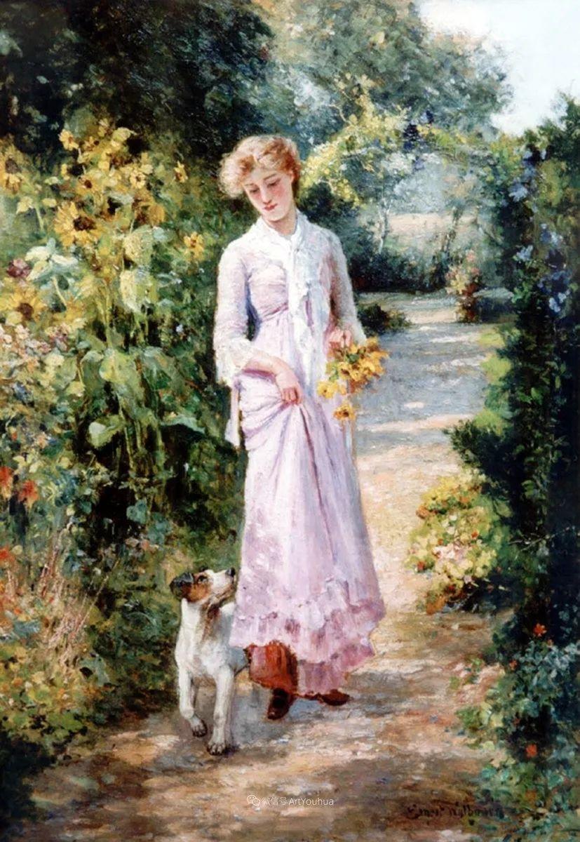 美丽村姑与诗意田园,英国画家Ernest Charles Walbourn作品(下)插图31