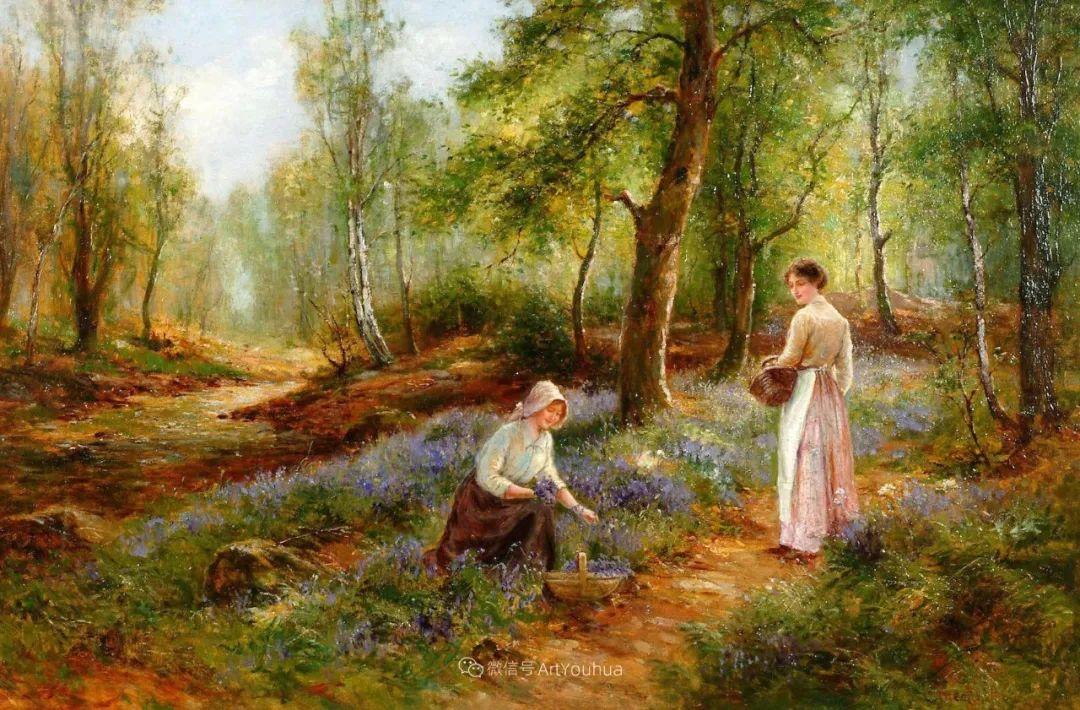 美丽村姑与诗意田园,英国画家Ernest Charles Walbourn作品(下)插图41