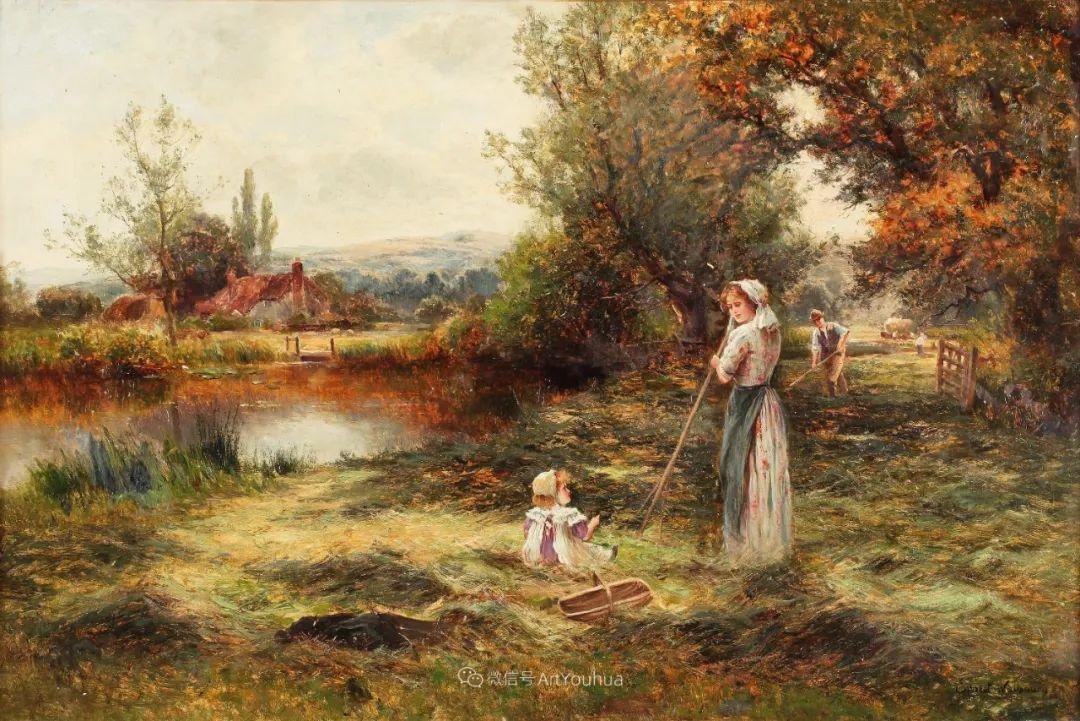 美丽村姑与诗意田园,英国画家Ernest Charles Walbourn作品(下)插图43