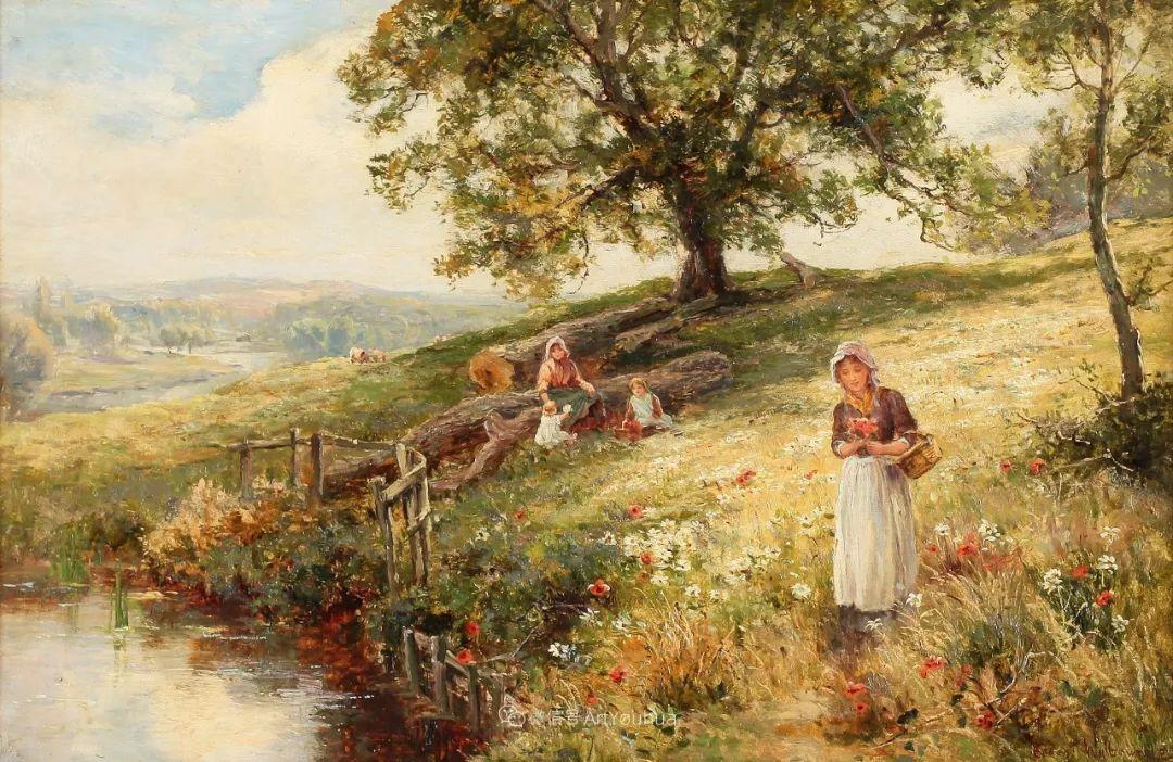 美丽村姑与诗意田园,英国画家Ernest Charles Walbourn作品(下)插图45