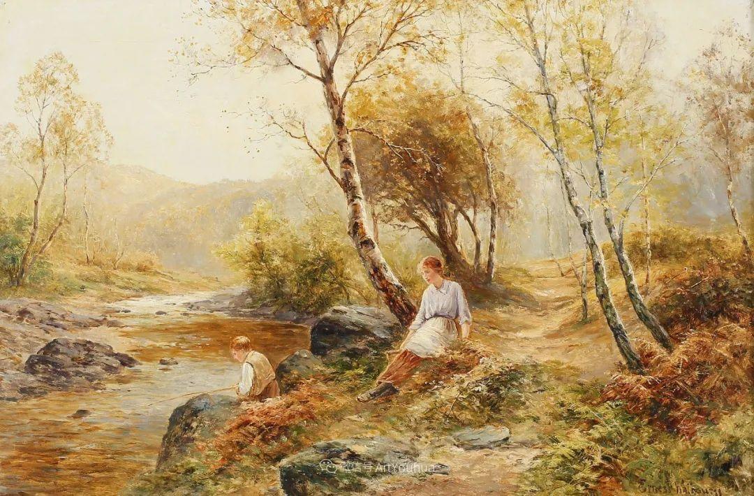 美丽村姑与诗意田园,英国画家Ernest Charles Walbourn作品(下)插图47