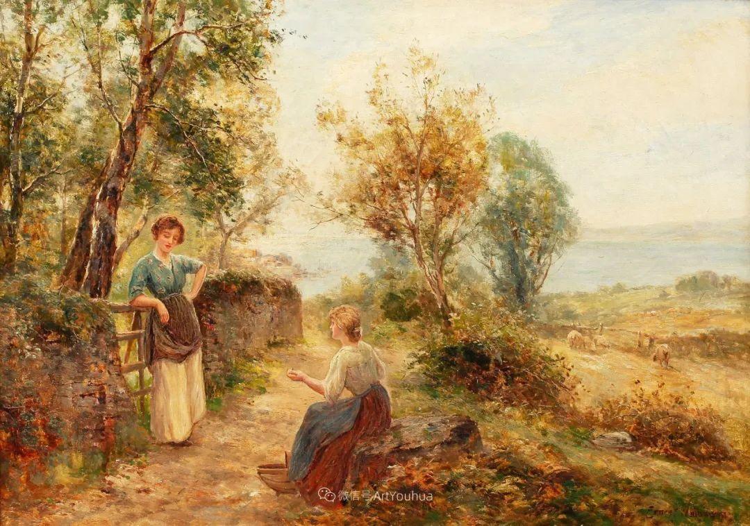 美丽村姑与诗意田园,英国画家Ernest Charles Walbourn作品(下)插图51