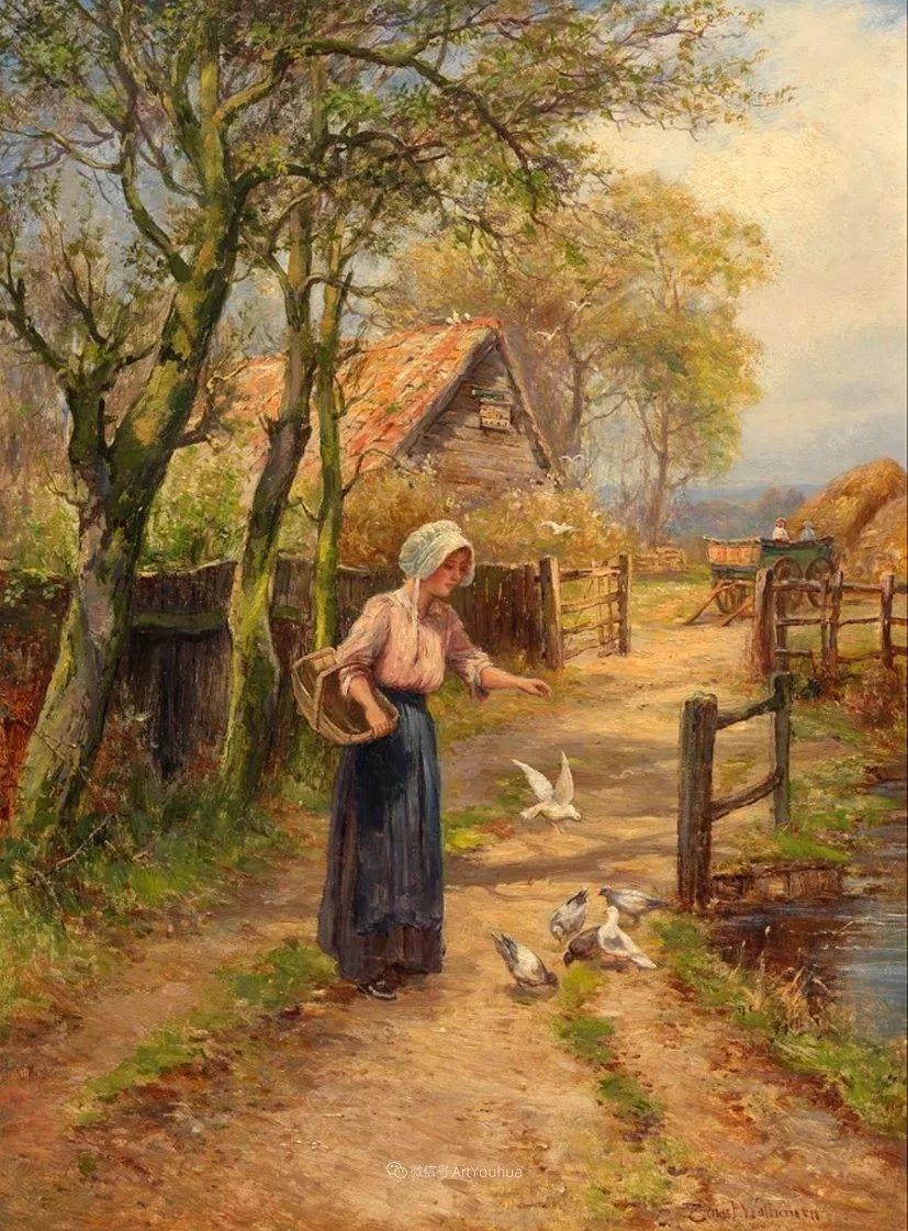 美丽村姑与诗意田园,英国画家Ernest Charles Walbourn作品(下)插图59