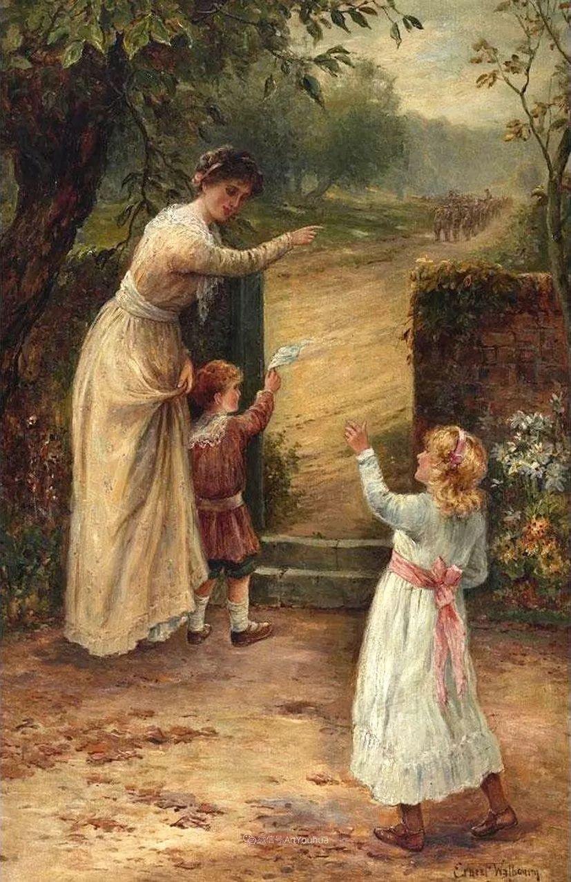 美丽村姑与诗意田园,英国画家Ernest Charles Walbourn作品(下)插图85