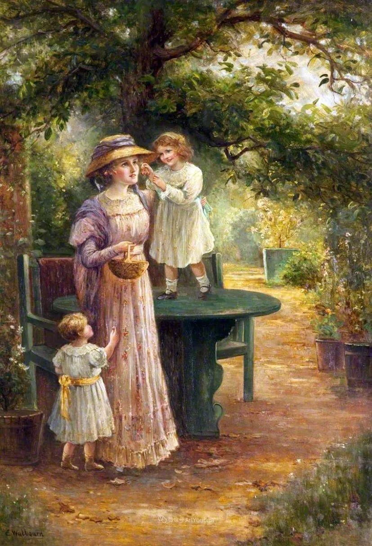 美丽村姑与诗意田园,英国画家Ernest Charles Walbourn作品(下)插图89