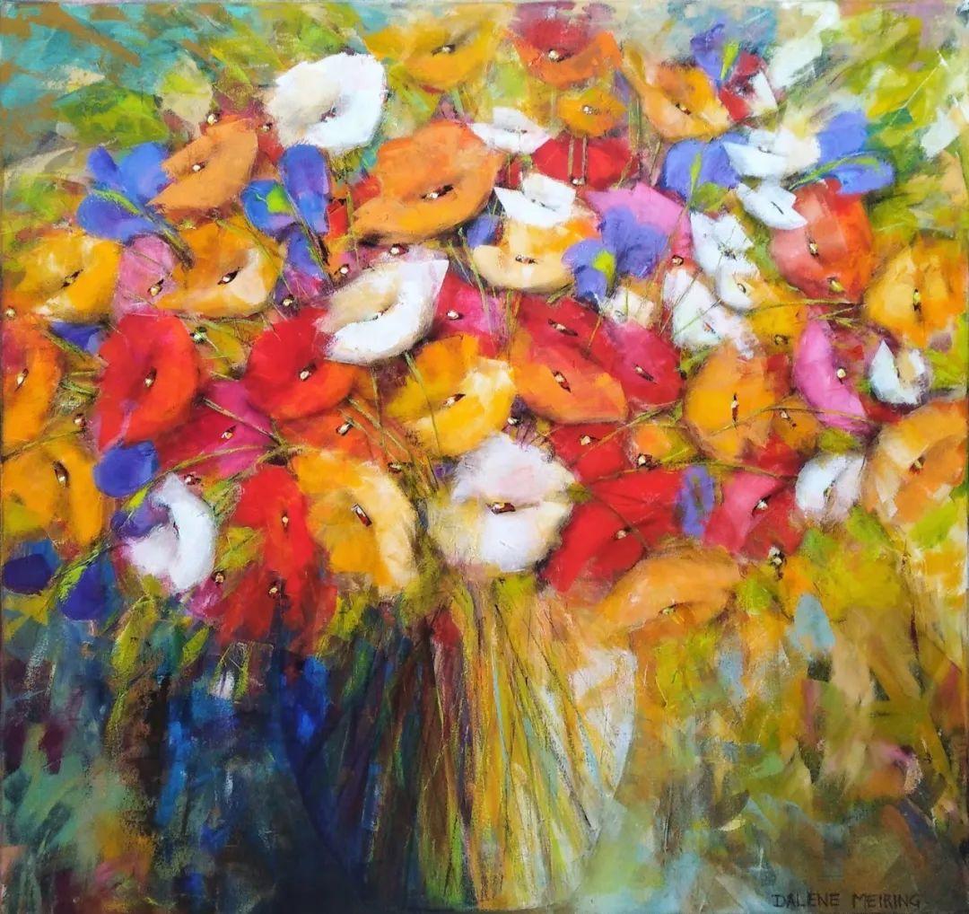 花卉欣赏,南非女艺术家达琳·梅林作品选(上)插图1