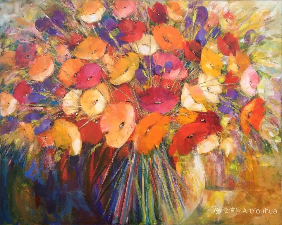 花卉欣赏,南非女艺术家达琳·梅林作品选(上)插图5