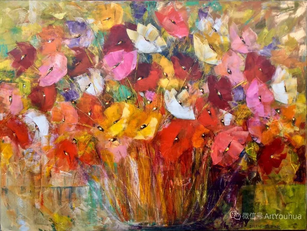 花卉欣赏,南非女艺术家达琳·梅林作品选(上)插图17