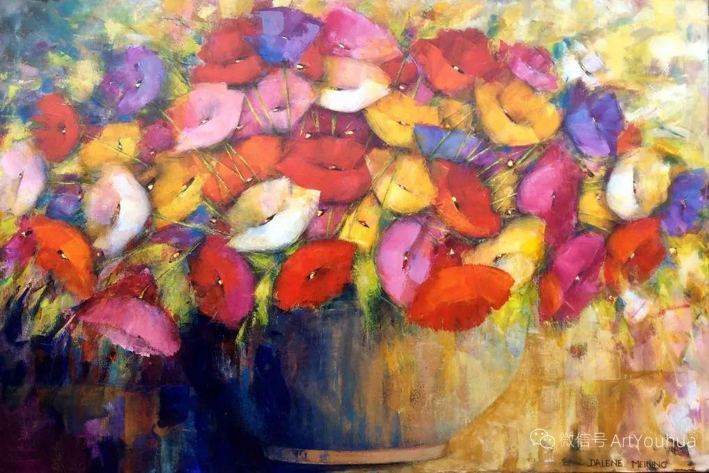 花卉欣赏,南非女艺术家达琳·梅林作品选(上)插图19