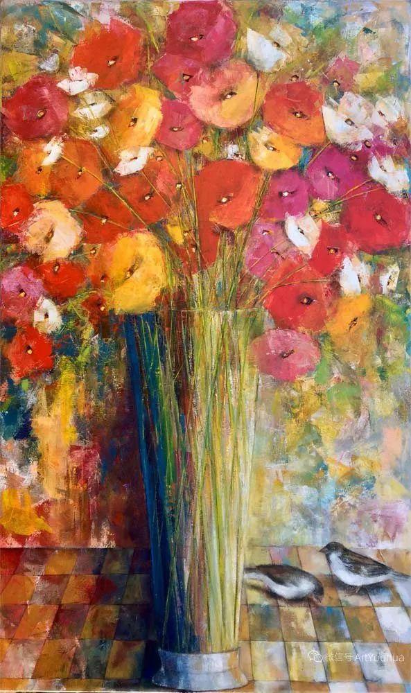 花卉欣赏,南非女艺术家达琳·梅林作品选(上)插图21