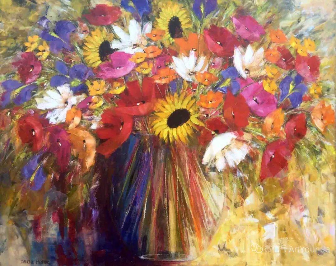 花卉欣赏,南非女艺术家达琳·梅林作品选(上)插图25
