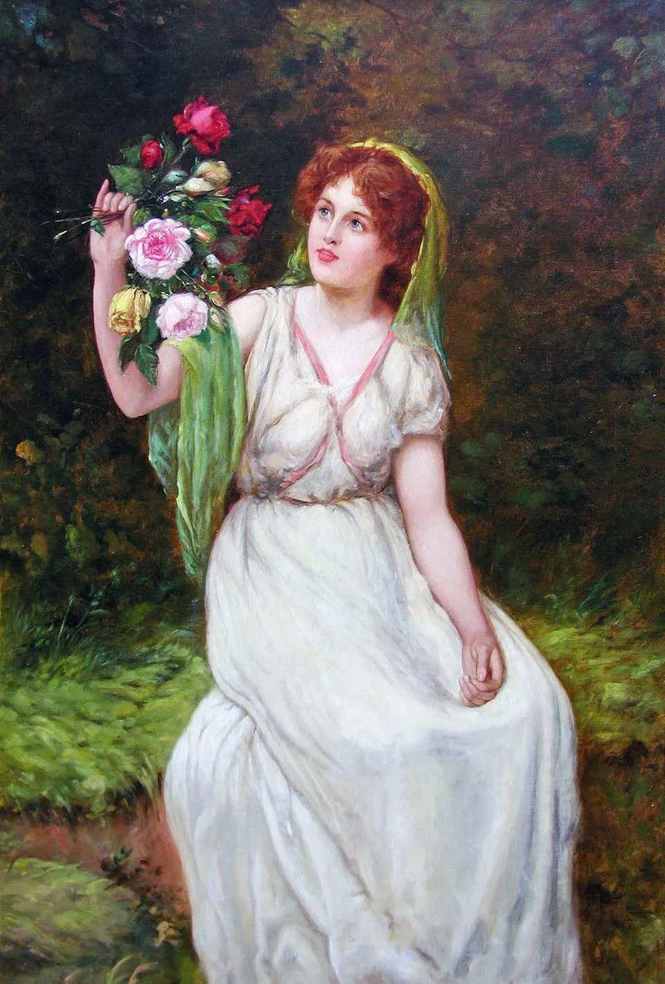 纯情与美丽,英国画家威廉·奥利弗作品选插图1