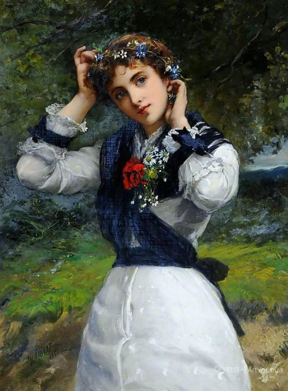 纯情与美丽,英国画家威廉·奥利弗作品选插图13