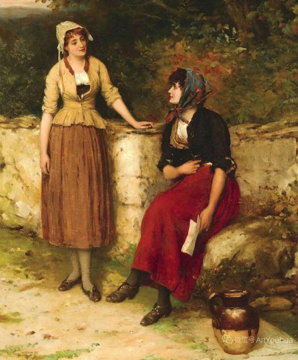 纯情与美丽,英国画家威廉·奥利弗作品选插图17