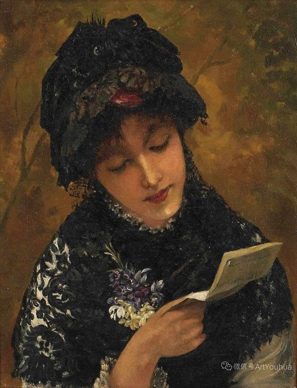 纯情与美丽,英国画家威廉·奥利弗作品选插图33