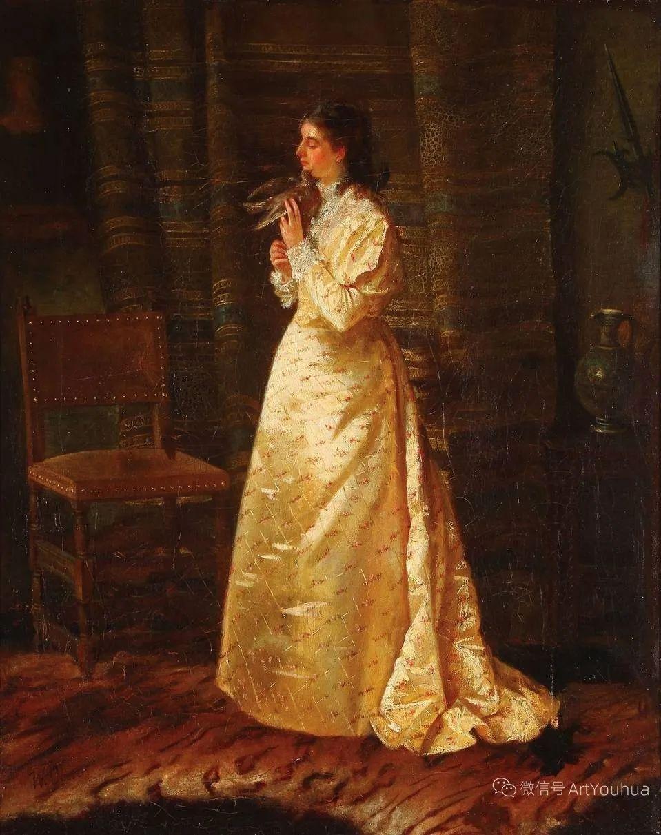 纯情与美丽,英国画家威廉·奥利弗作品选插图39