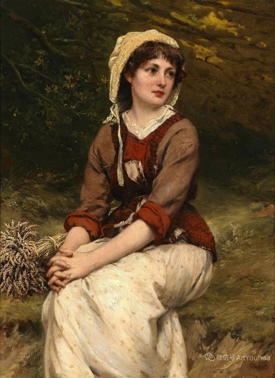 纯情与美丽,英国画家威廉·奥利弗作品选插图47