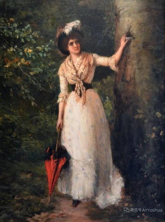 纯情与美丽,英国画家威廉·奥利弗作品选插图49