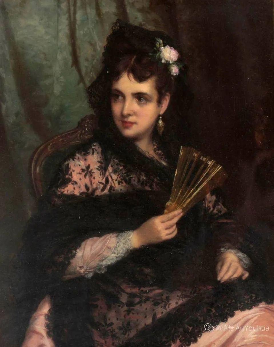 纯情与美丽,英国画家威廉·奥利弗作品选插图79