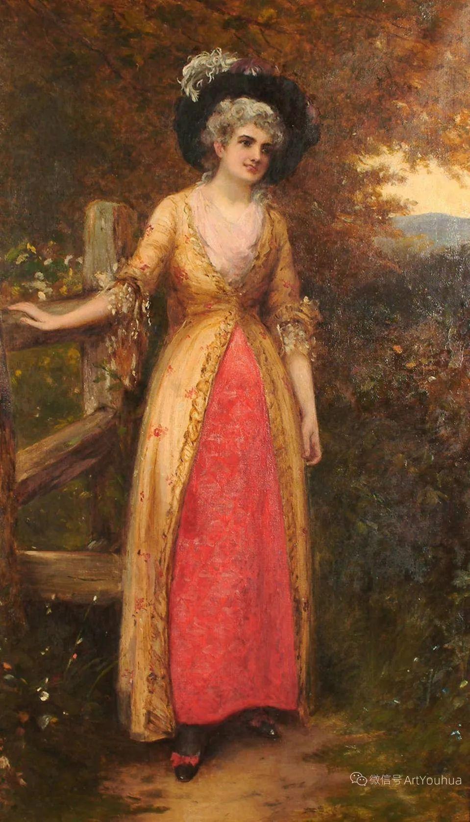 纯情与美丽,英国画家威廉·奥利弗作品选插图83