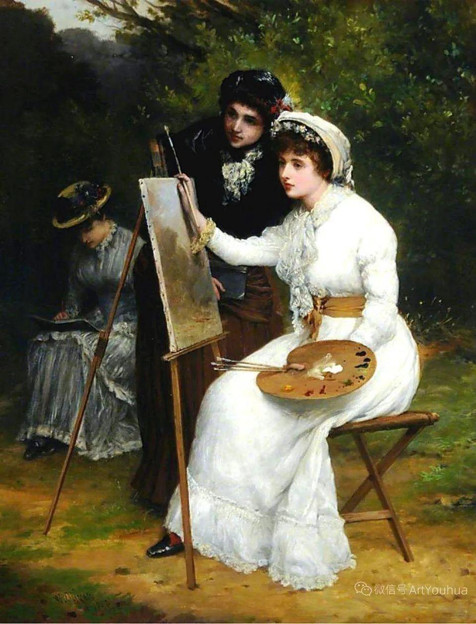 纯情与美丽,英国画家威廉·奥利弗作品选插图87
