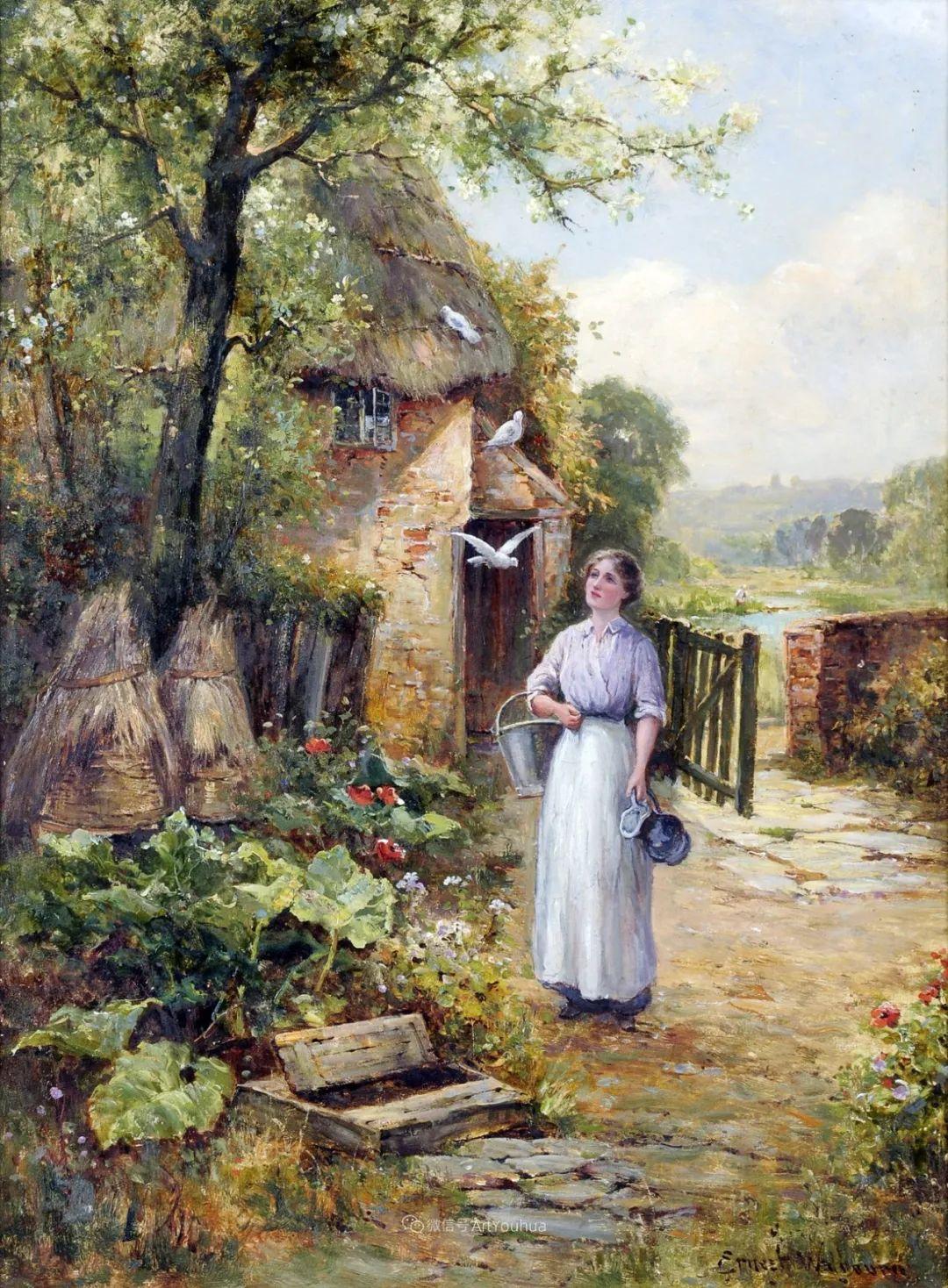 他笔下的绝美乡村景象,真令人向往!英国画家Ernest Charles Walbourn作品(上)插图