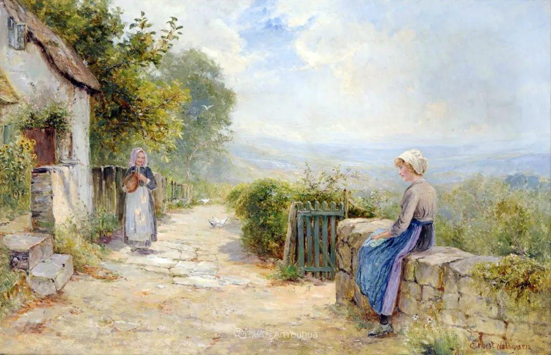 他笔下的绝美乡村景象,真令人向往!英国画家Ernest Charles Walbourn作品(上)插图1