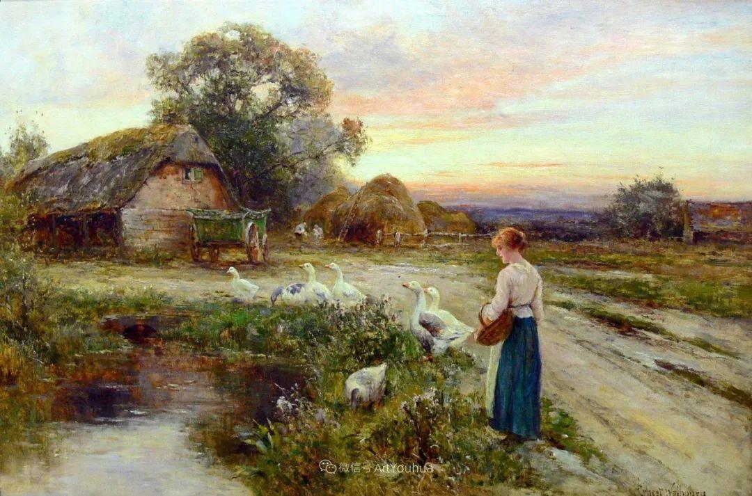他笔下的绝美乡村景象,真令人向往!英国画家Ernest Charles Walbourn作品(上)插图2