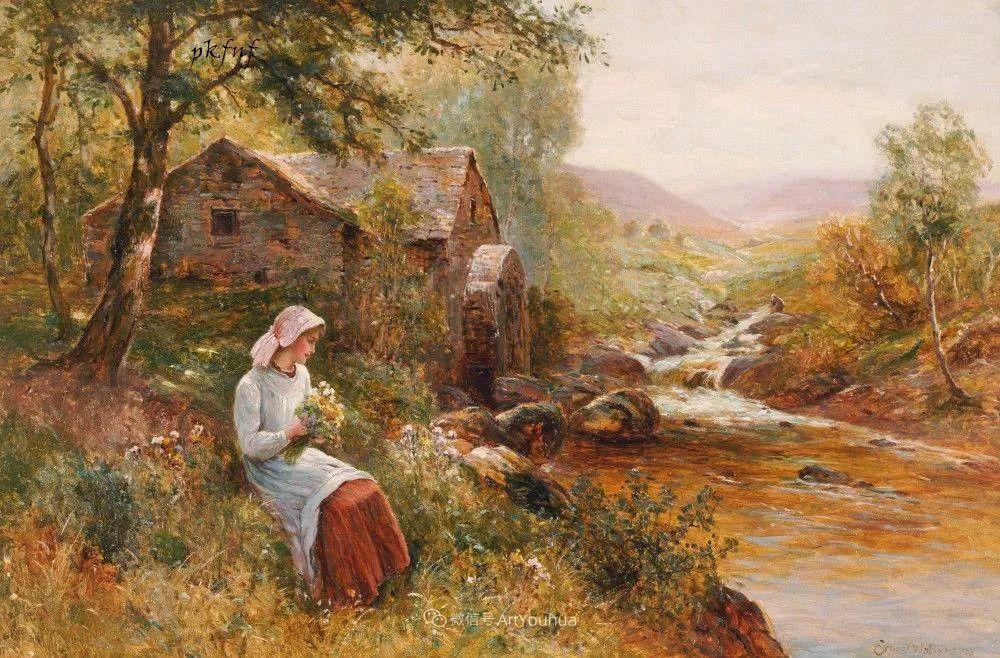 他笔下的绝美乡村景象,真令人向往!英国画家Ernest Charles Walbourn作品(上)插图3