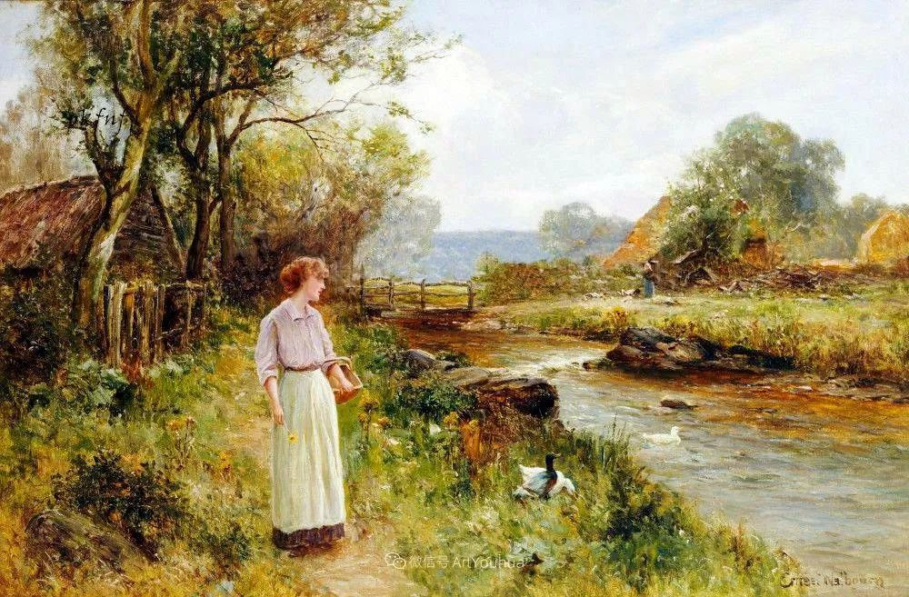他笔下的绝美乡村景象,真令人向往!英国画家Ernest Charles Walbourn作品(上)插图4