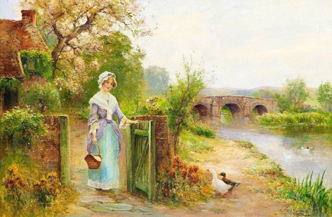 他笔下的绝美乡村景象,真令人向往!英国画家Ernest Charles Walbourn作品(上)插图5